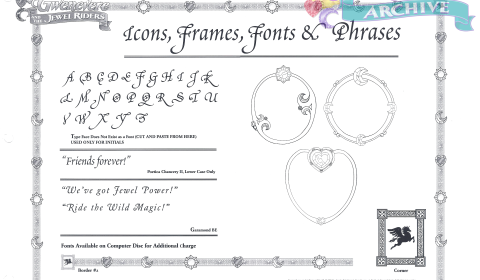 32 - Icons, Frames, Fonts, and Phrases