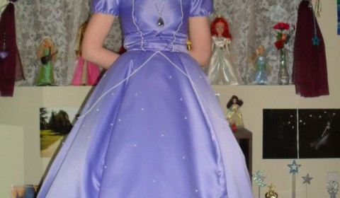 One of Lisa's more recent cosplay costumes as Sofia the First!