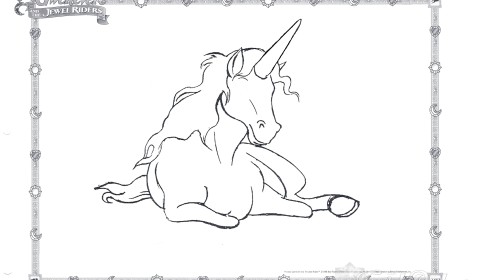 Unicorn Coloring Page 01