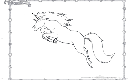 Unicorn Coloring Page 02
