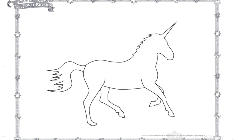 Unicorn Coloring Page 04