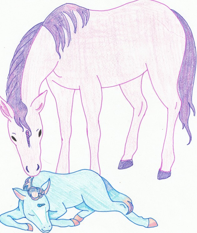 Artist Challenge Unicorn - Misty Rose and Dreamfields - Kathleen