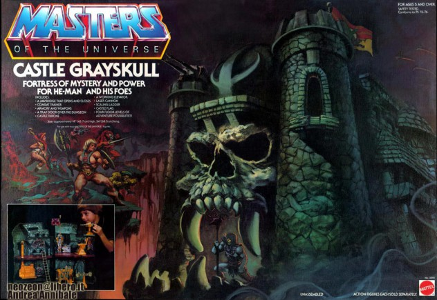 Castle Grayskull box, illustrated by Rudy Obrero