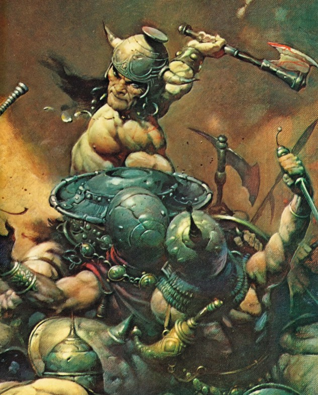 Conan the Barbarian, illustrated by Frank Frazetta, based on the stories by Robert E. Howard