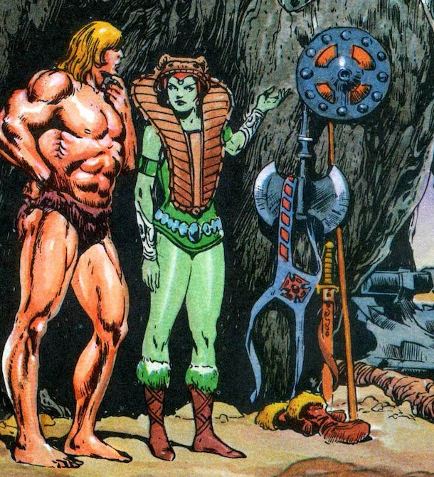 "Detail from the Mini Comic ""He-Man and the Power Sword"" written by Donald Glut and illustrated by Alfredo Alcala"